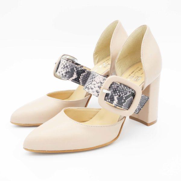 scarpa-tacco-grosso-cinturino-pitonato