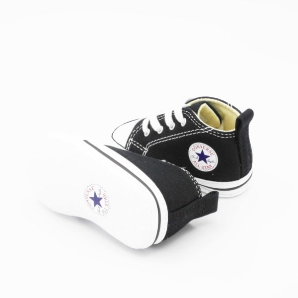 converse culla first star nere