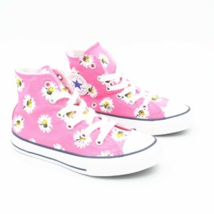 converse alte bambina fantasia rosa fiori