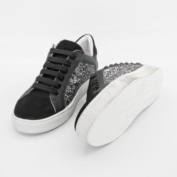 sneakers donna camoscio glitter