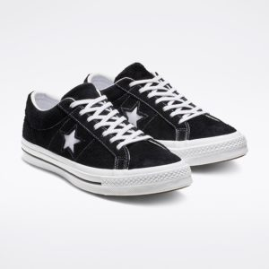 Converse suede black one star