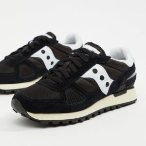 saucony shadow vintage black-white
