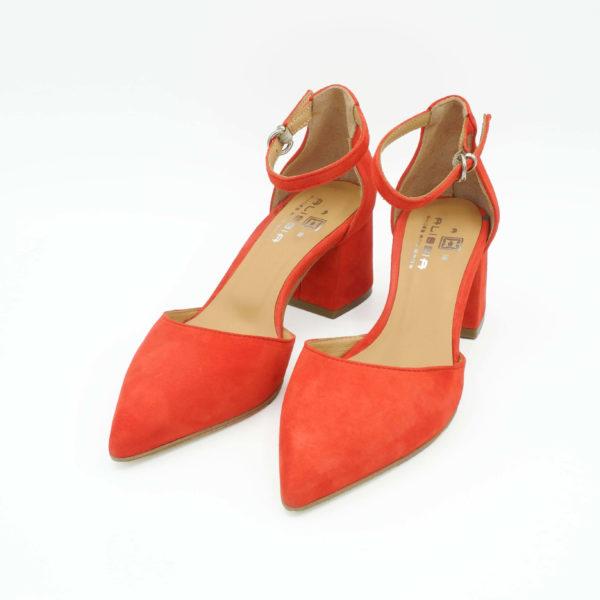décolleté-camoscio-rosso-con-cinturino-alla-caviglia