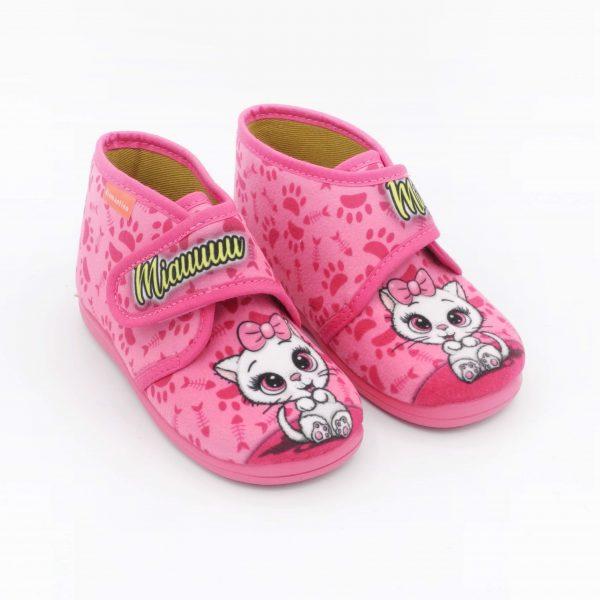 pantofoline-bimba-diamantino-rosa-con-fantasia-gattino