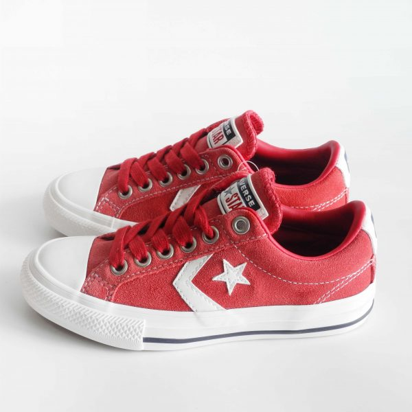 sneakers-basse-bambini-converse-star-player-in-suede-rosso