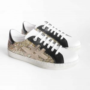 sneakers-bessential-donna-in-pelle-bianca-con-glitter-oro