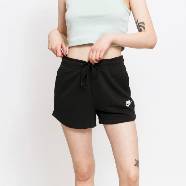 pantaloncini-donna-nike-essential-in-cotone-nero-cj2158-010