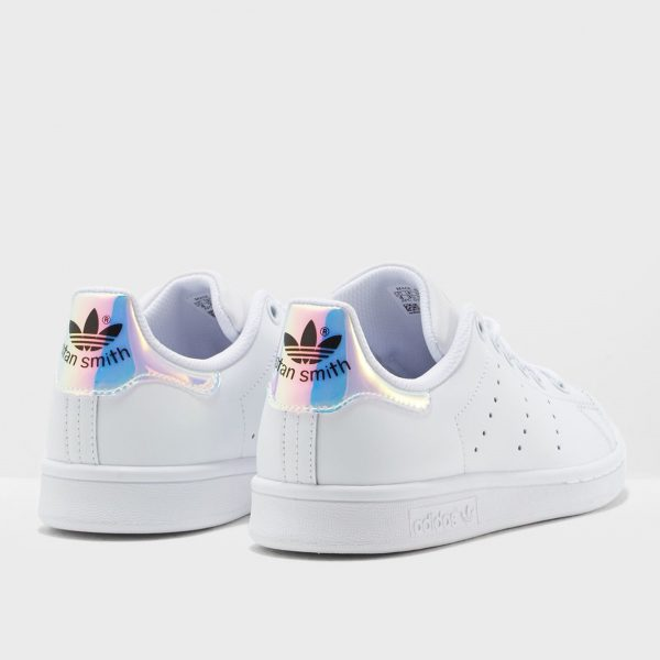 adidas-stan-smith-jr-bianco-argento-iridescente-aq6272